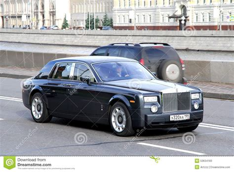 rolls royce dark blue rolls royce phantom editorial stock photo image 53634183