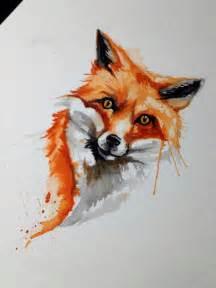 best 10 watercolor fox tattoos ideas on pinterest fox