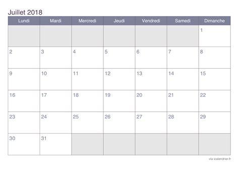 Calendrier Juillet Aout Calendrier Juillet 2018 224 Imprimer Icalendrier