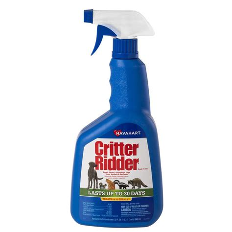 deterrent spray havahart 32 oz critter ridder ready to use animal repellent spray 3145 the home depot