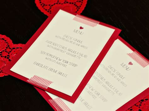 valentines menu template hearts s day dinner free printable