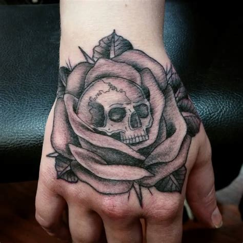 skull and black rose tattoo 47 tattoos for