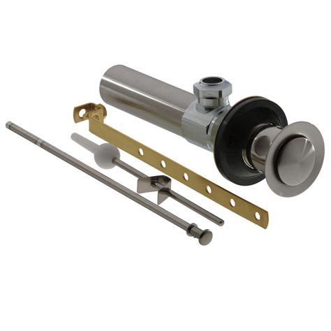 brushed nickel sink drain assembly danco 1 1 4 in lavatory sink grid drain assembly in