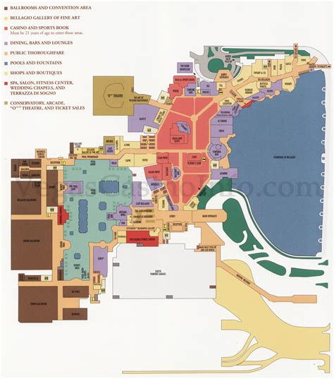 bellagio hotel layout map what happens in vegas deconcrete