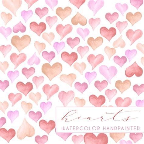 background design heart watercolor hearts background design vector free download