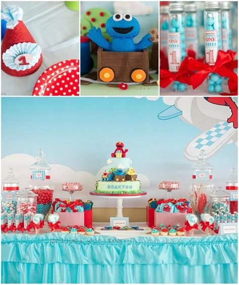 Kara's Party Ideas Elmo And Friends Birthday Party Planning Ideas Supplies Cookie Monster
