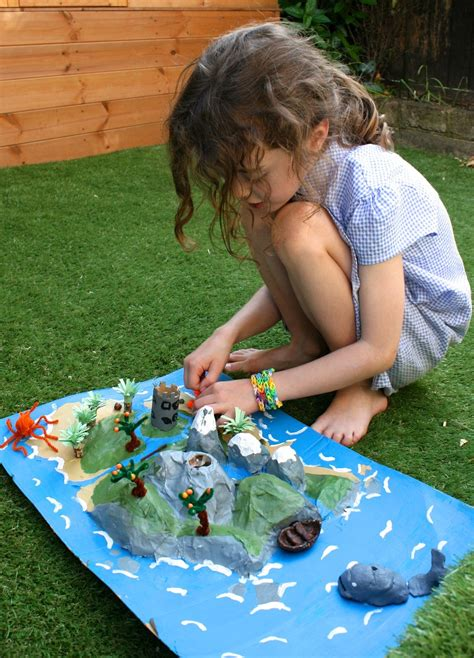 How To Make A Paper Mache Island - story island papier mache dioramas and