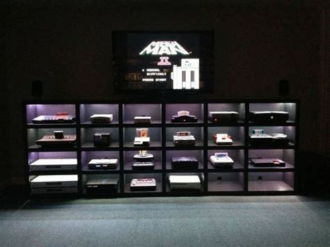 Video game console display   Living Rooms   Pinterest