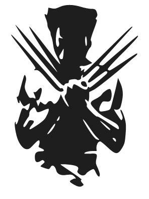 Wall Stickers Designs wolverine silhouette logo vinyl decal sticker car by