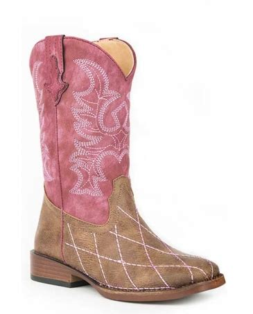 roper 174 pink stitch boots fort brands