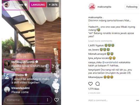Celetuk Bahasa pakai bahasa ngapak komentar kartika putri di live ig ronaldo bikin ngakak kabar berita