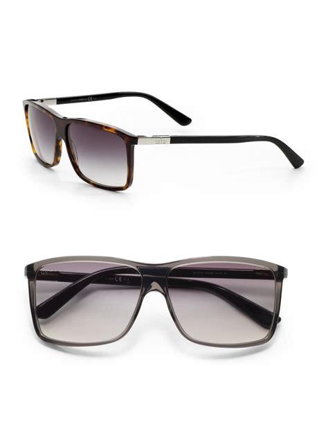 Sunglasses Gucci Original 1 gucci brown wayfarer sunglasses for lyst