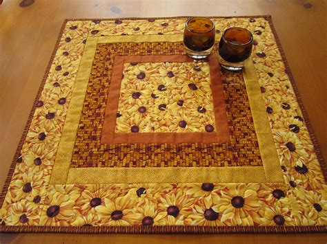 quilted table toppers quilted table topper golden flowers on luulla