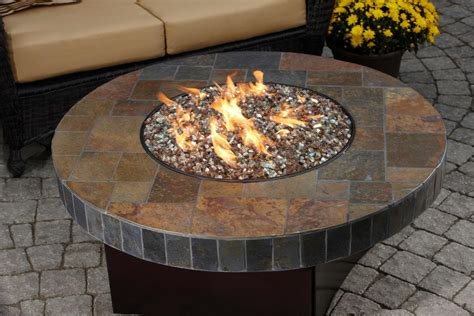 diy gas pit table pits gas pits mosaic stones and table