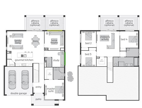 floor plans designs the horizon split level floor plan by mcdonald jones