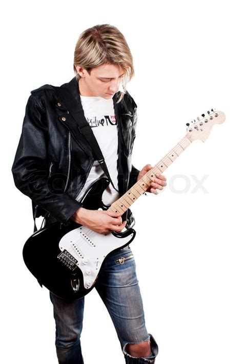 who is the guitar playing guy in the eliquis commercials young guy in leather jacket playing electric guitar