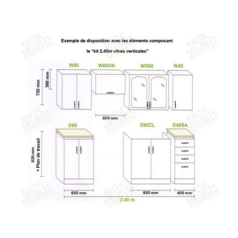 hauteur cuisine hauteur meuble cuisine cuisine en image