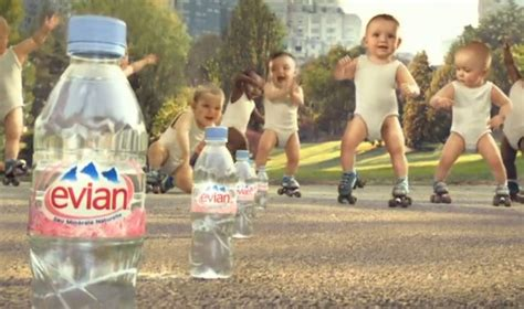 by evian known as babies on skates improperly since the babies evian s babies on roller skates commercial everything pr