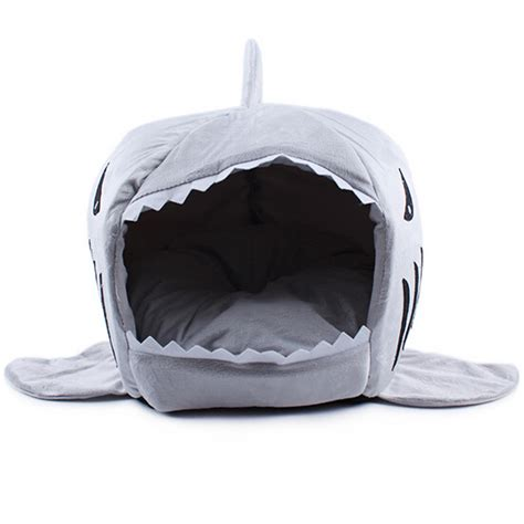 shark bed for dogs 2016 2 size pet products warm soft dog house pet sleeping