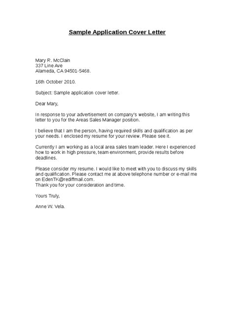 Cover Letter Of Application Sle Application Cover Letter Hashdoc