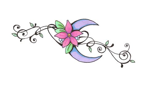 flower and star tattoo designs 11 great moon designs lawas