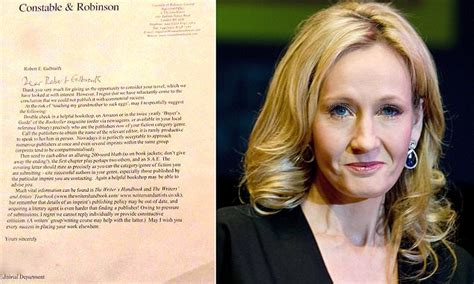 Rejection Letter Jk Rowling Harry Potter Author Jk Rowling Shares Rejection Letters From Publishers Jist News
