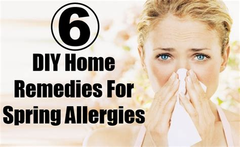 easy diy home remedies for allergies diy health