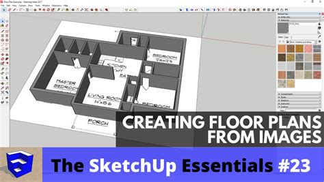 Creating Floor Plans creating floor plans from images in sketchup the