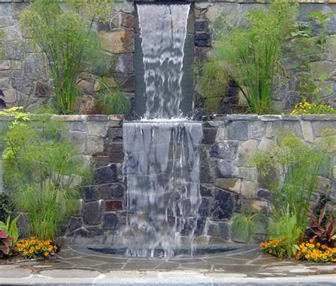 backyard water wall outdoor waterfall wall furniture ideas deltaangelgroup