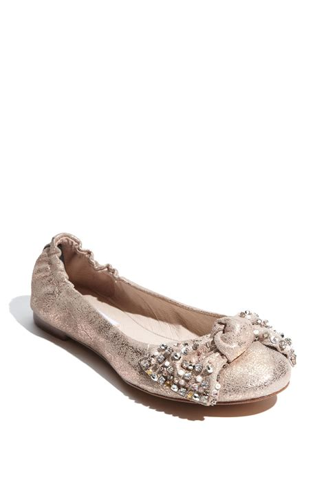 gold flat shoes for steve madden kortship flat in gold gold lyst