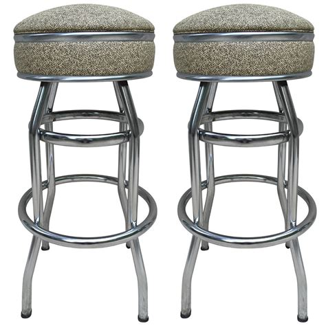 Swivel Bar Stools For Sale Pair Deco Swivel Bar Stools For Sale At 1stdibs