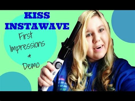 kiss instawave tutorial kiss instawave automatic curler first impressions review