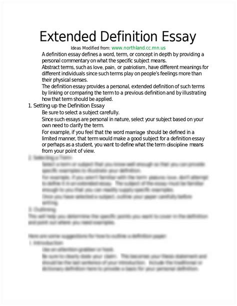 sle extended definition essay fancy exles of extended definition essays with exle