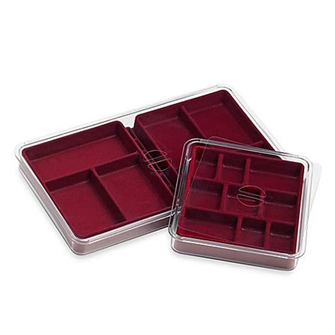bed bath and beyond trays neatnix 174 jewelry stax 6 9 compartment tray pack in