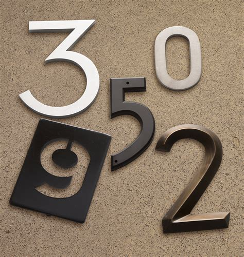 house numbers pin mount metal house numbers rejuvenation