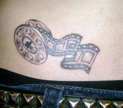film reel tattoo designs reel on waist tattooshunt