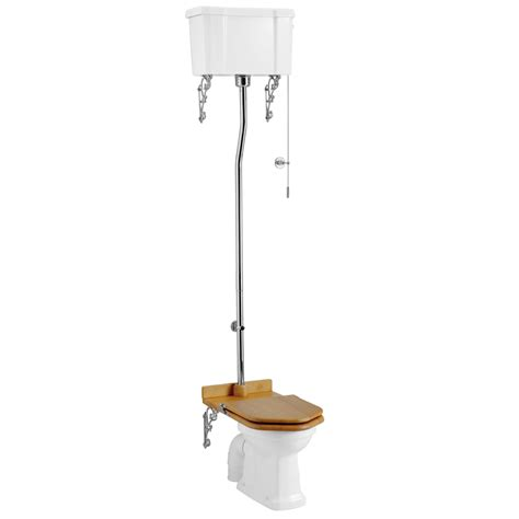 bathroom cisterns burlington high level toilet white ceramic cistern at