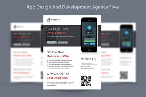 app design development agency flyer flyer templates