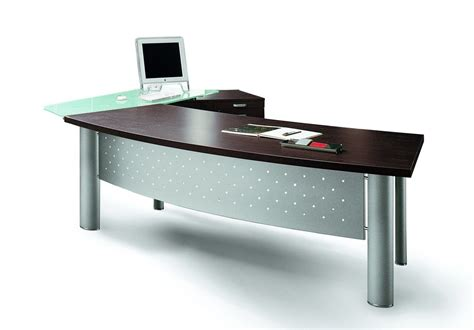 bow front desk with return bow front desk with glass return cabinet x3 2520mm