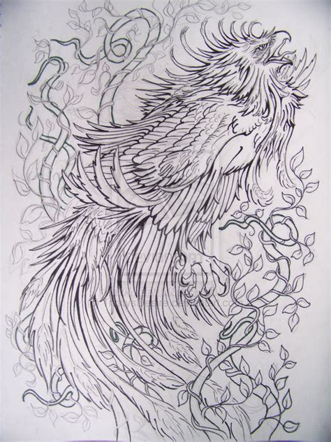 phoenix tattoo no outline related keywords suggestions for japanese phoenix tattoo