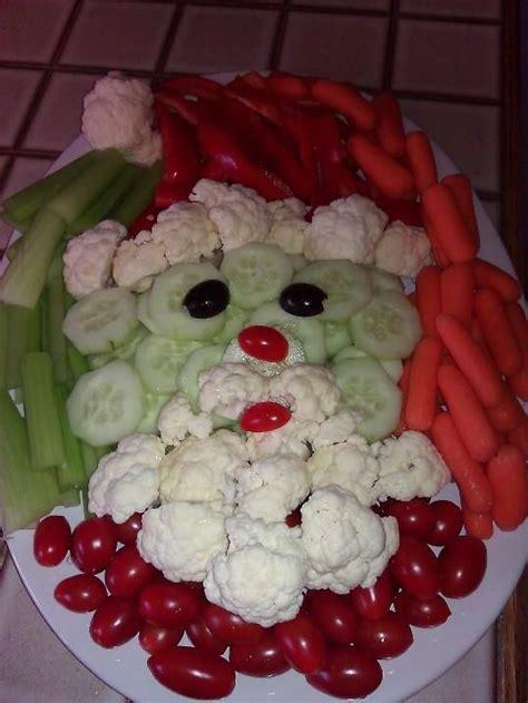 vegetable santa claus platter my pin veggie santa foods veggies