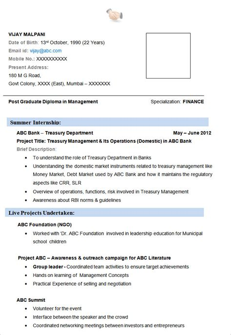 resume format for mba finance 24 best finance resume sle templates wisestep