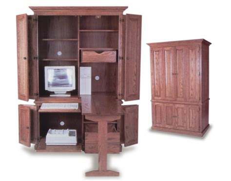 armoire with fold out table amish built deluxe computer armoire amish office furniture sugar plum oak amish