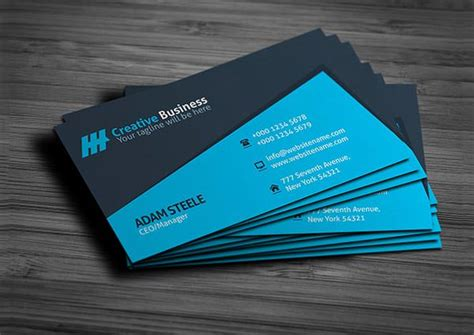 creative visiting card templates 53 best premium business card template designs free