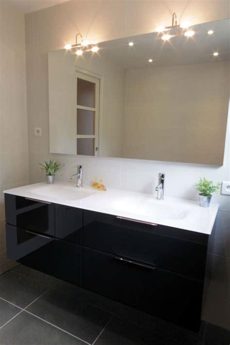 meuble salle de bain 140 cm simple vasque meuble black and white en verre atlantic bain