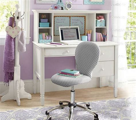 Girls Bedroom With White Study Desk Kids Pinterest White Desks For Bedrooms