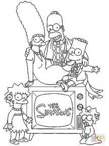 ausmalbild die simpson familie ausmalbilder kostenlos zum ausdrucken