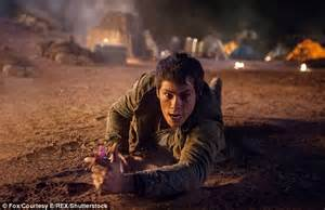 maze runner film release date uk dylan o brien back to work after terrifying motorcycle