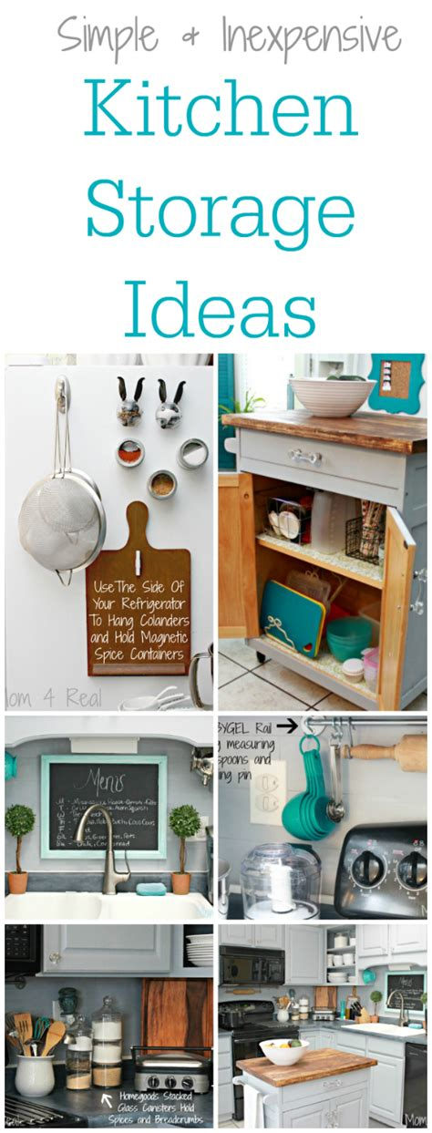 affordable kitchen storage ideas simple and inexpensive kitchen storage ideas mom 4 real