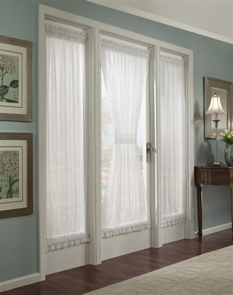 door curtain panels platinum voile flowing sheer door panel curtainworks com